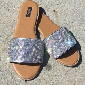Shoes - 🆕✨ Rhinestone Flat Slides